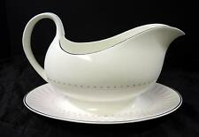 Retro Mid Century Royal Doulton Gravy Boat * Pink Radiance Pattern