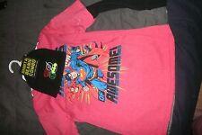 Superman, Batman, Flash DC Comics red T-shirt & Beanie hat combo,size M 8 (B180)