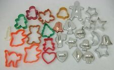 Estate Lot of Vintage Cookie Cutters Aluminum Wilton Plastic Halloween Christmas