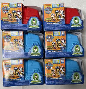 Paw Patrol Dino Rescue Paw Mini Figures x 6 (Series 7) - New & Sealed