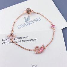 Swarovski Dazzling Swan Bracelet, Multi-colored, Rose-gold tone plated 5472271