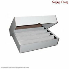 Cardboard 5000ct Trading Card Storage Box with Lid - Holds up to 5000 Cards