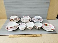 Mixed Lot of Antique Soft Paste England Tea Cup Saucer Plate Sets