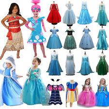Kids Princess Elsa Dress Up Fancy Costume Girls Party Cosplay Frozen Halloween