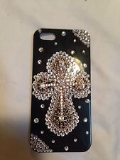 NEW 3D Cross Crystal Bling Finished hard Case cover skin for Apple Iphone4 4S