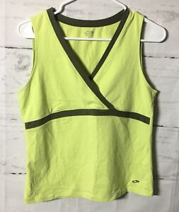 CHAMPION Athletic Top Size L Women's Cross Over Stretch V-Neck Sleeveless Sports