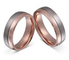 Anillos de joyería de metales preciosos sin piedras rosa