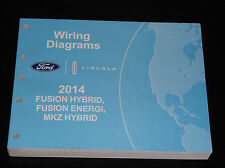 FORD OEM SERVICE MANUAL 2014 FUSION LINCOLN MKZ HYBRID ENERGI WIRING DIAGRAMS