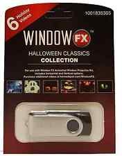 Window Halloween Classics Collection USB Key Pre-Loaded 6-Video Projection Scene