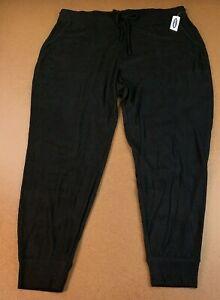 Old Navy Womens Size XL Mid-Rise Black Plush Knit Jogger Pajamas NWT