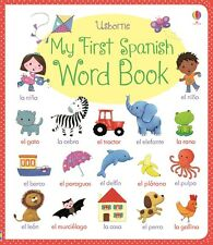 Usborne My First Spanish Word Book (bb)270 Spanish words,numbers,animals,bedtime