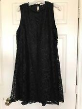 Womens/Ladies Black Lace Dress 2XL