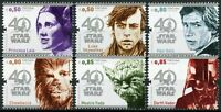 Portugal Star Wars Stamps 2017 MNH 40 Years Han Solo Yoda Darth Vader 6v Set