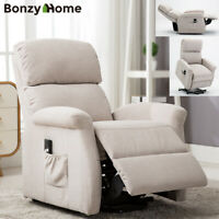 Modern Power Lift Recliner Chair Sofa Padded Seat Backrest with RC For Elderly