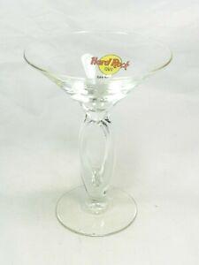 Hard Rock Cafe HRC San Diego CA Double Stem Martini Cocktail Glass, Logo