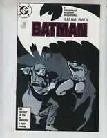 "Batman 407 VFNM (9.0) ""Year One, Part 4"" Frank Miller scripts!"