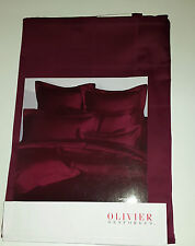 OLIVIER DESFORGES HOUSSE DE COUETTE BAPTISTE 140X200 CM COTON PEIGNE BORDEAUX