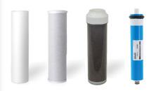4 Replacement RODI Aquarium Reverse Osmosis Water Filters + 50 GPD Membrane