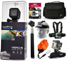 GoPro HERO4 Hero 4 Session + 32GB, Case, Selfie Stick, 3 Mounts, Float Strap