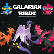Galarian Birds | 6IV | Battle Ready | Crown Tundra DLC | Pokemon Sword/Shield
