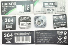 1x MAXELL OROLOGI BATTERIA 364-621-sr621 SW pila a bottone Silver Oxide made in Japan