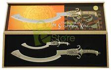 "The Sword of the Scorpion King Mini Double Set Metal Sword wooden box 8"" & 4.25"""