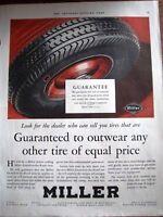 1930 MILLER Rubber Car Tires Color Ad