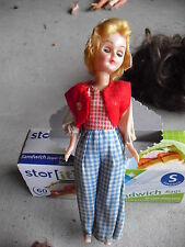 """Vintage 1950s Plastic Blonde Character Girl Doll 8"""" Tall"""