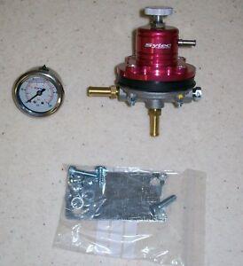 FSE Fuel Pressure Regulator Red & Gauge 1.5 - 6 bar