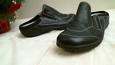 Axxiom BLACK shoes for life size 7 1/2 M SLIP ON comfortable casual LEATHER