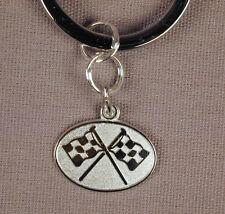 Ring Engravable Free U.S. Shipping Sterling Silver Racing Flags Charm Key
