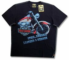 "HARLEY DAVIDSON & TRUNK LTD DESIGNER ""LEATHER & STEEL"" T-SHIRT - NWT MEDIUM"