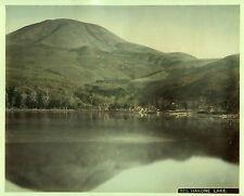 c.1890 JAPAN HAKONE LAKE ASHI GENUINE ANTIQUE ALBUMEN PHOTOGRAPH