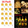 16pcs 20 LEDs Battery Operated Mini LED Copper Wire String Fairy Lights Decor US