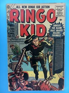 1956 Atlas/Marvel RINGO KID Comic #13 VG Maneely