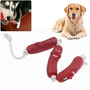 3 Pieces Sausage Rope Dog Puppy pet Play Toy indooe outdoor fun Through Petch
