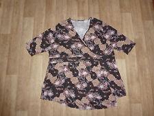CANDA Mini Kleid / Tunika Wickeloptik Geblümt ÜBERGRÖßE Gr.60-62 **NEU**
