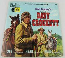 Walt Disney's Davy Crockett 1971 Vintage 33 1/2 Rpm Record Story Book