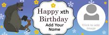 Personalised Birthday Banners Custom Party Jungle Book Mowgli Baloo
