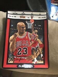 """Michael Jordan 90s Collectors Plate w/COA Upper Deck """"25,000 Points"""""""