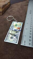 New USA $100 Hundred Dollar Bill KeyChain Souvenir Patriotic Gift Benjamin USA