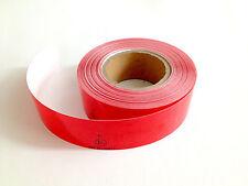 Reflexfolie 1Meter Rot Selbstklebend Reflektor Wabe Konturmarkierung ECE 104