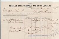 U.S. Searles Bros. Windmill and Pump Company Kansas 1901 Paid Invoice Ref 41337
