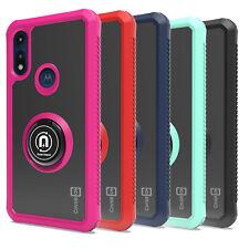 CoverON Motorola Moto E (2020) Case Magnetic Ring Phone Cover + Screen Protector