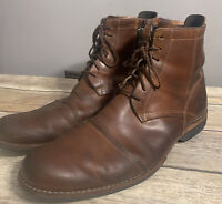 Timberland Earthkeepers Men's Sz 13M brown Leather Lace Zip Ankle Boots 19558