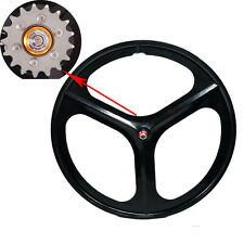 700c Tri Spoke Fixie Fixed Gear Single Speed Bike Rear Mag Wheel Rim ( Black )
