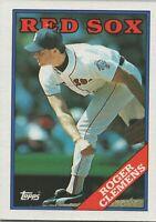 Roger Clemens 1988 Topps Baseball Card #70 Boston Red Sox