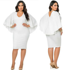 Plus Size Womens Backless Evening Party Summer Ladies Cocktail Long Pencil Dress