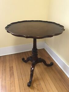 Imperial Furniture Mahogany wood Coffee, Tea Serving Table #123, c.1930 MI,USA