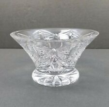 Waterford Butterflies Bowl-- Best Wishes-- Footed Cut Crystal Irish Butterfly